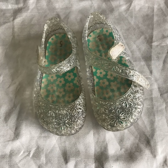 Garanimals  Toddler Girls Mary Jane Clear  Jelly shoes Sizes 4,5,6